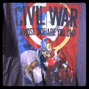 Marvel Shirts - Marvel Captain America: Civil War T-Shirt, 3XLT
